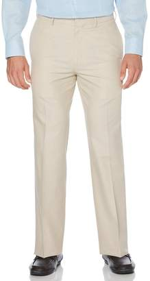 Cubavera Big & Tall Cotton Linen Herringbone Flat Front Pant