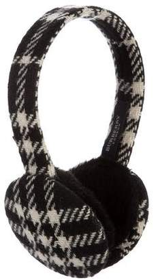 Burberry Shearling-Trimmed Wool Earmuffs