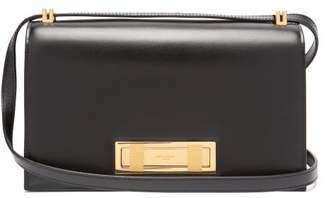Saint Laurent Domino Leather Shoulder Bag - Womens - Black