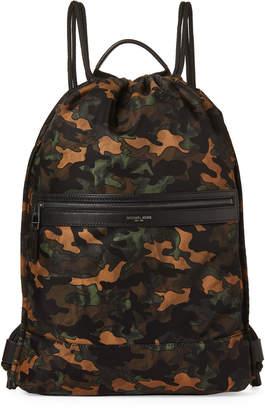 9f903170b088 Michael Kors Army Kent Nylon Drawstring Backpack