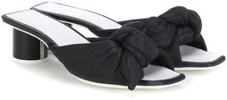 Jil Sander Satin and leather sandals