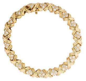 Tiffany & Co. 18K and Diamond Signature X Link Bracelet