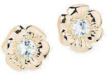 Aurelie Bidermann 18K Yellow Gold Topaz Pansy Earring