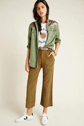 Velvet by Graham & Spencer Vera Cropped Wide-Leg Corduroy Pants