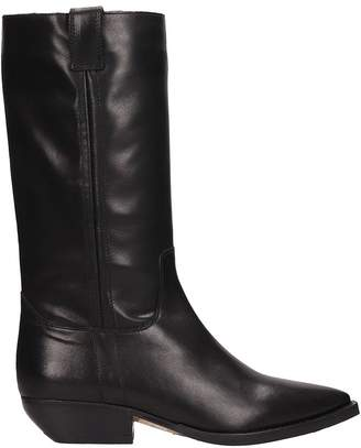 The Seller Tex Black Leather Boots