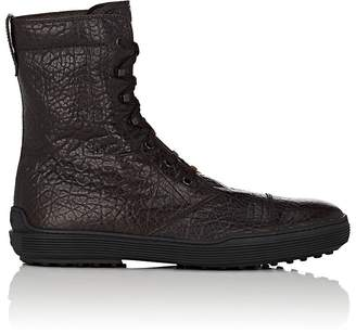 Tod's MEN'S WRINKLED LEATHER LACE-UP BOOTS
