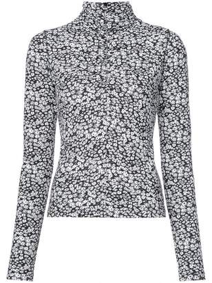 Cédric Charlier long-sleeve floral top