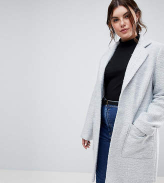 Asos DESIGN Curve slim coat in texture