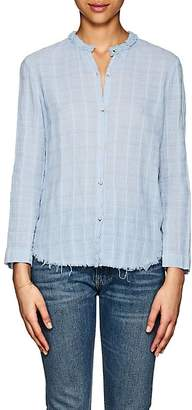 Raquel Allegra Women's Geometric Cotton Blouse