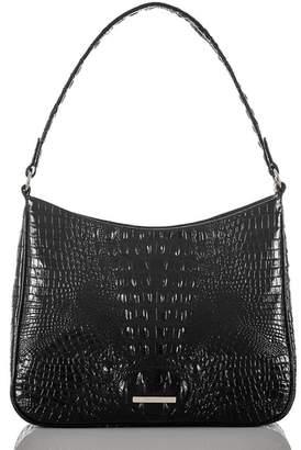 Brahmin Noelle Croc Embossed Leather Hobo Bag