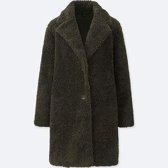 Uniqlo Women's Pile-lined Fleece Long-sleeve Tailored Coat