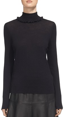 Whistles Ruffle Turtleneck Sweater $180 thestylecure.com
