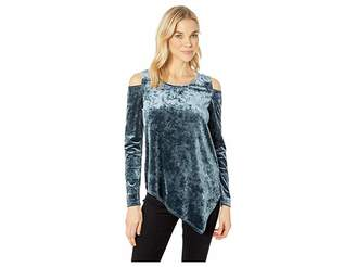 Karen Kane Crush Velvet Cold Shoulder Top