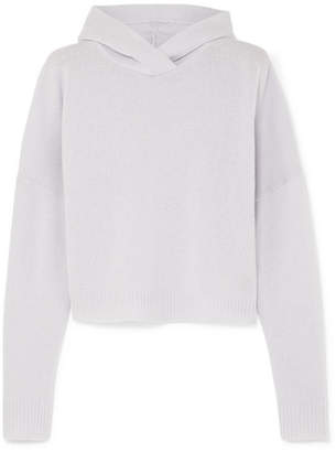 Theory Hooded Cashmere Sweater - Purple