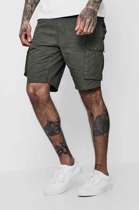 boohoo Cotton Canvas Cargo Shorts