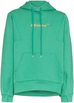 Ader Error logo embroidered cotton hoodie
