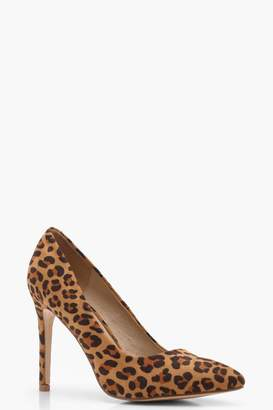 boohoo Leopard Court Shoes
