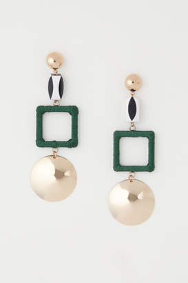 H&M Large Earrings - Green
