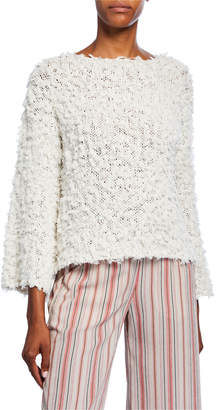 Moon River Textured Long-Sleeve Sweater