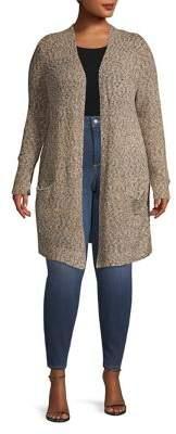 Rafaella Plus Textured Open-Front Cardigan