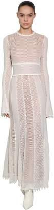 Alexander McQueen Cut Out Cotton And Silk Crocheted Dress