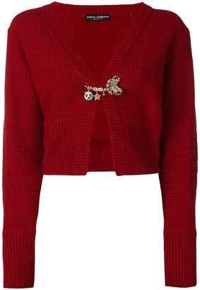 Dolce & Gabbana textured embellished cardigan