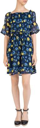 The Kooples Wild Roses Off-the-Shoulder Dress
