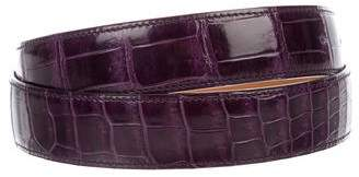 Hermes Crocodile 32MM Belt Strap