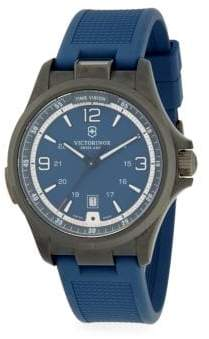 Victorinox Ambassador Auto Stainless Steel & Rubber-Strap Watch
