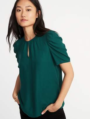 Old Navy Shirred Twill Top for Women