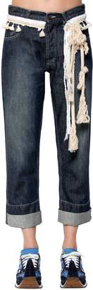 Loewe Cotton Denim Jeans W/ Rope Details
