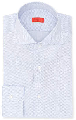 Isaia Pindot Cotton Dress Shirt
