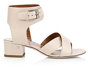 Laurence Dacade Women's Teodosia Leather Ankle-Strap Sandals