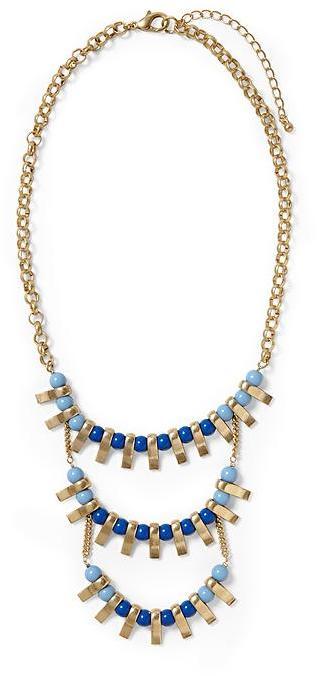 Juicy Couture Sabine Three Tier Link Necklace