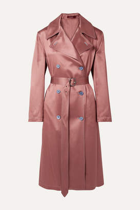 Sies Marjan Sigourney Satin-twill Trench Coat - Antique rose
