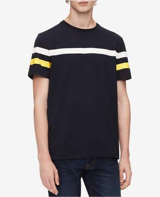 Calvin Klein Men's Striped Sleeve T-Shirt