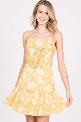 Paper Crane Papercrane Yellow Mini Dress