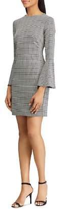 Ralph Lauren Glen Plaid Bell-Sleeve Dress