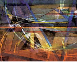"Creative Gallery Cubist Hardvapour Acid Abstract Portrait Metal Wall Art Print - 24"" x 36"""