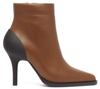 Chloé Tracy Leather And Rubber Ankle Boots - Womens - Khaki