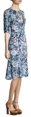 Michael Kors Collection Floral Silk Dress $1,950 thestylecure.com