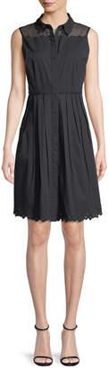 Elie Tahari Samiyah Poplin Sleeveless Dress