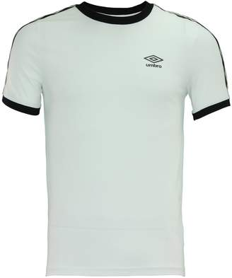 Umbro Men's Signature Short Sleeve Shirt, White/Black