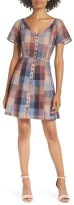 Heartloom Flint Check A-Line Dress