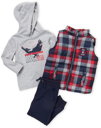 Tommy Hilfiger Toddler Boys) 3-Piece Plaid Vest and Pants