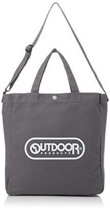 Outdoor Products (アウトドア プロダクツ) - [アウトドアプロダクツ]トートバッグ キャンバス ロゴプリント 2WAY グレー