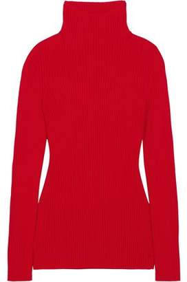 Victoria Beckham Ribbed-knit Virgin Wool Turtleneck Sweater ea66e2e734ca8