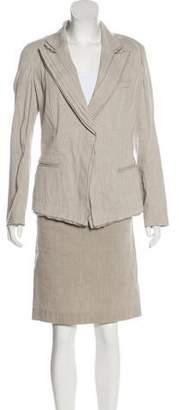 Donna Karan Linen-Blend Skirt Suit