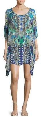 Camilla Round-Neck Embellished Kaftan Coverup $550 thestylecure.com