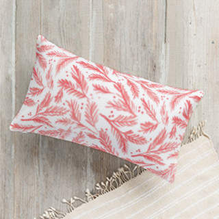 Watercolor Pines Lumbar Pillow